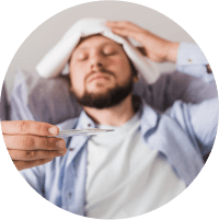 Symptoms of Tonsilitis - Heavy fever