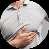 Symptoms of Gynecomastia - Swollen breasts