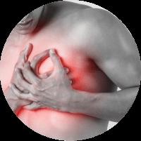 Symptoms of Gynecomastia - Pain in breast area