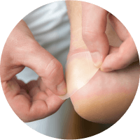 Symptoms of Diabetic Foot Ulcer - Feeling Firmness and Pain Around the Wound