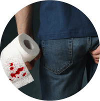 Symptoms of Pilonidal sinus - Blood leak and foul smell