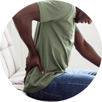 Symptoms of Pilonidal sinus - Pain - standing or sitting